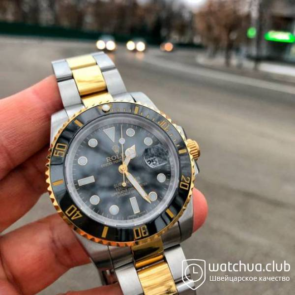 Rolex Submariner Two-tone bracelet Black Dial Ceramic Bezel вид 1