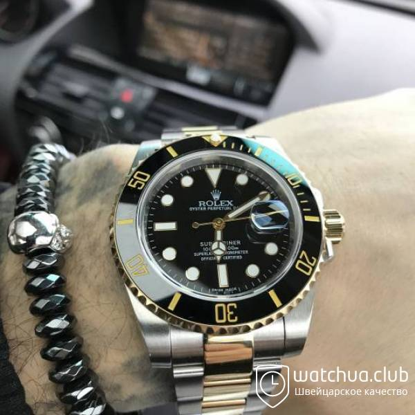 Rolex Submariner Two-tone bracelet Black Dial Ceramic Bezel вид 2