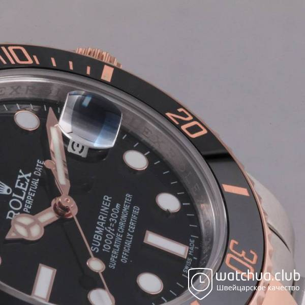 Rolex Submariner Two-tone bracelet Black Dial Ceramic Bezel вид 7