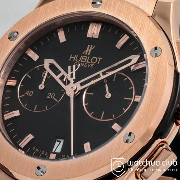 Hublot Classic Fusion Golden Black Chrono Rubber Strap вид 2