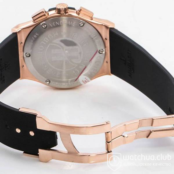 Hublot Classic Fusion Golden Black Chrono Rubber Strap вид 4
