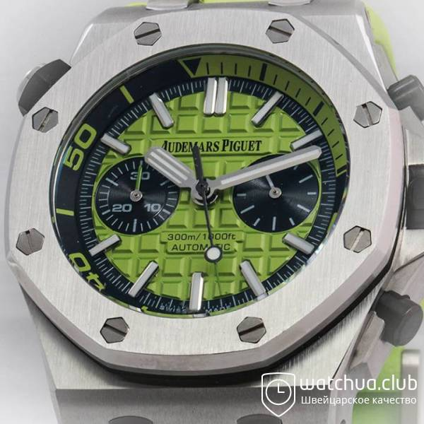 Audemars Piguet Royal Oak Offshore Green Diver Chronograph вид 3