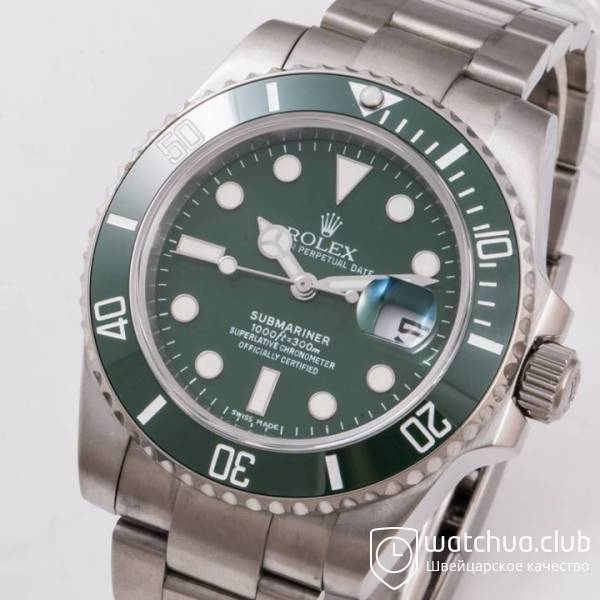 Rolex Submariner Steel Green Ceramic Bezel вид 2