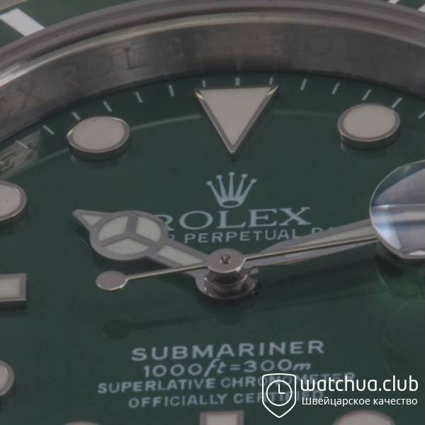 Rolex Submariner Steel Green Ceramic Bezel вид 3