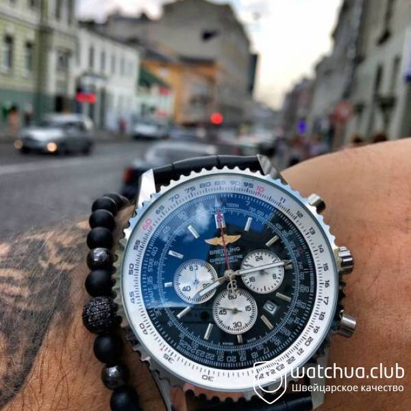 Breitling Navitimer GMT Steel Black вид 1