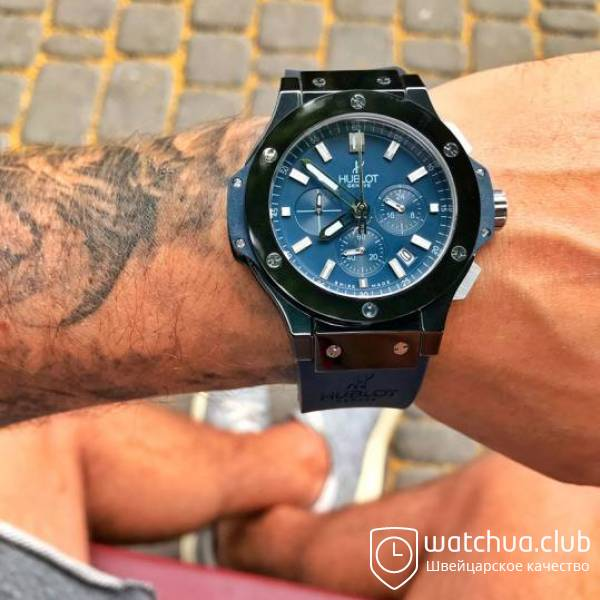 Hublot Big Bang All Ceramic Case Blue Dial Blue Strap вид 1
