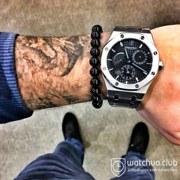 Audemars Piguet Royal Oak Dual Time Steel Black вид 1
