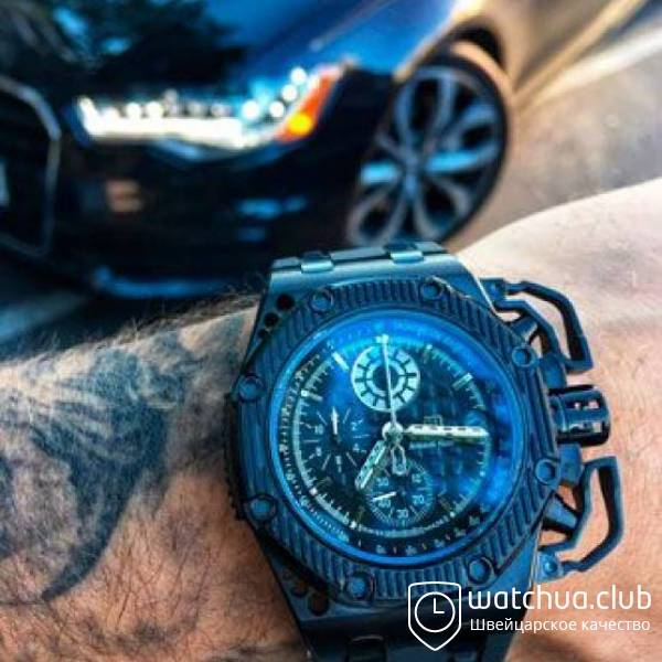 Audemars Piguet Royal oak offshore survivor all black вид 1