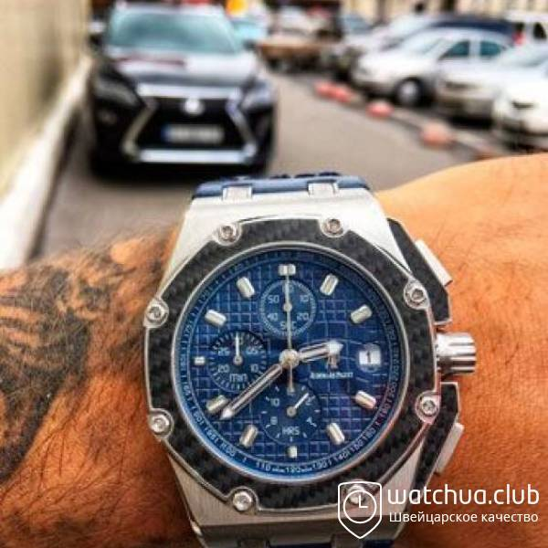 AUDEMARS PIGUET ROYAL OAK OFFSHORE QUILTED STRAP Blue вид 1