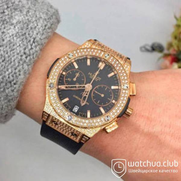 Hublot Classic Fusion All Diamond Gold вид 1