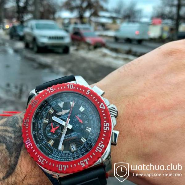 Breitling Professional Skyracer Red Rubber Bezel вид 1