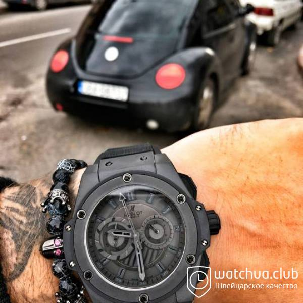 Hublot King Power Foudroyante All Black вид 1