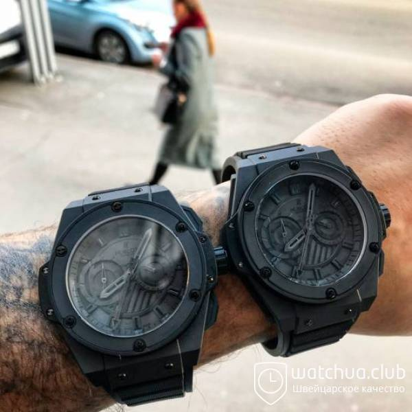 Hublot King Power Foudroyante All Black вид 2