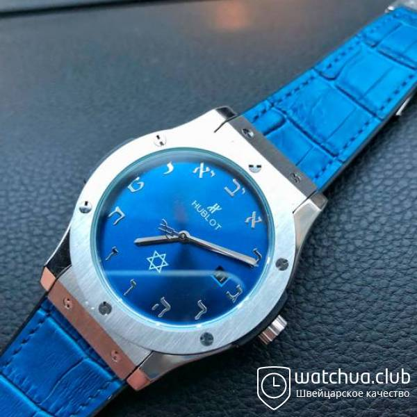 hublot israel steel blue вид 1