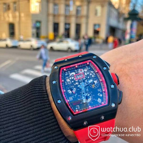 Richard Mille Flyback RM 011 Phantom  Black Red вид 1