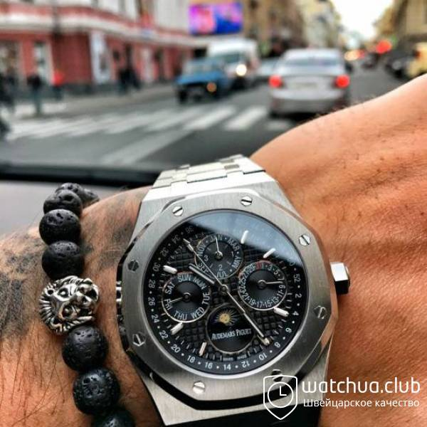 Audemars Piguet Royal oak perpetual calendar Steel Black вид 1