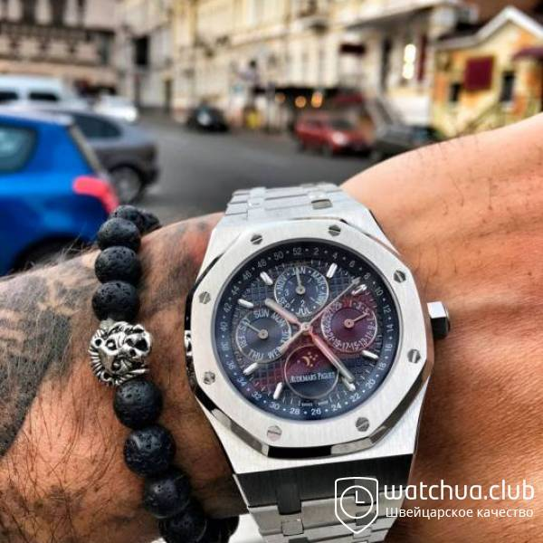 Audemars Piguet Royal oak perpetual calendar Steel Blue вид 1