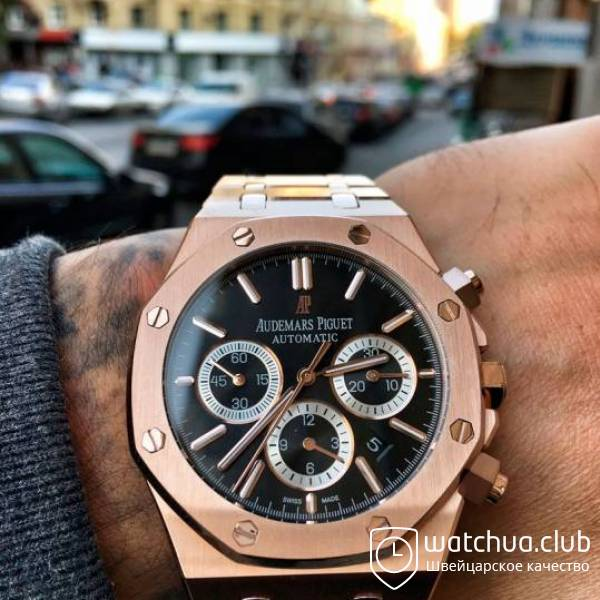 Audemars Piguet Royal Oak Offshore Black Dial Golden Bracelet вид 1