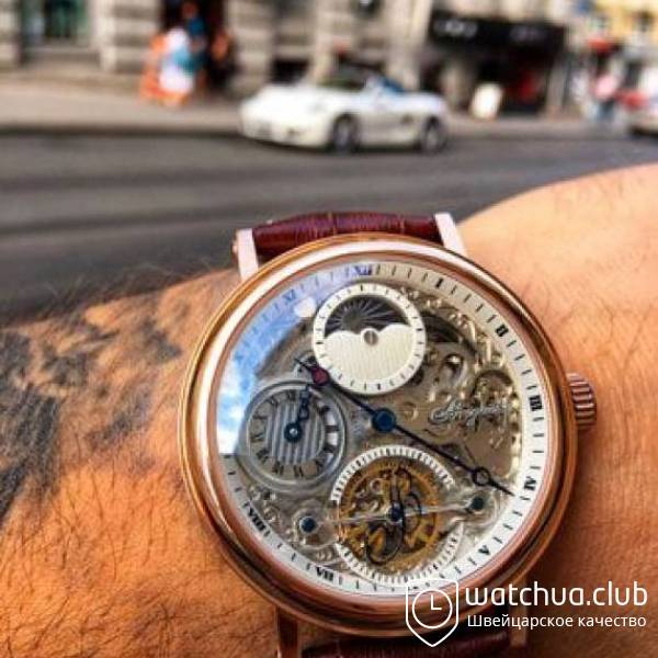 Breguet Dual Time Skeleton Tourbillon Golden White вид 1