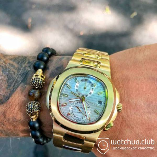 Patek Philippe Nautilus Yellow Golden bracelet вид 1