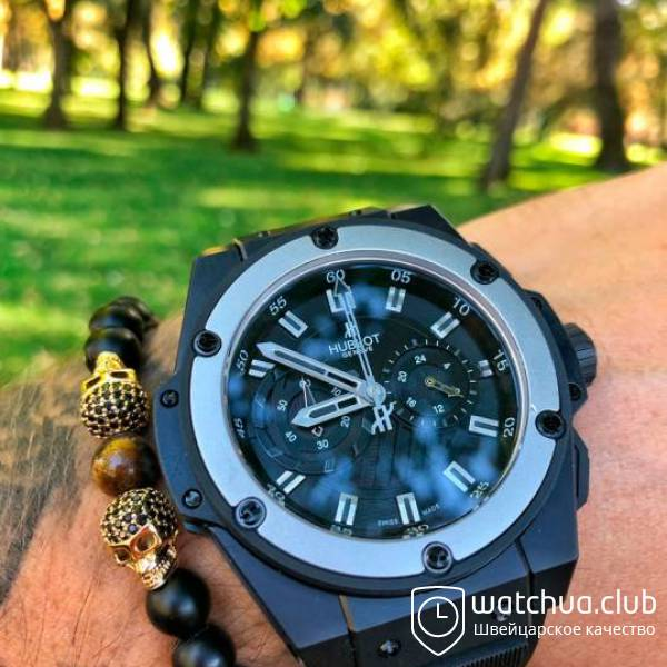 Hublot King Power Foudroyante Steel Black вид 1