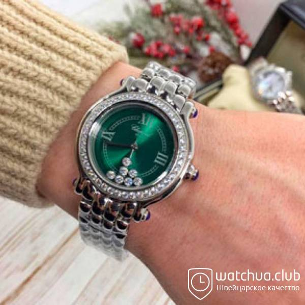 Chopard Happy Sport Classic Round Green Dial Steel case вид 1