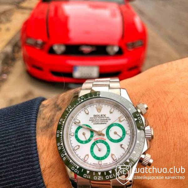 Rolex Cosmograph Daytona Steel White Green Bezel and Subdials вид 1