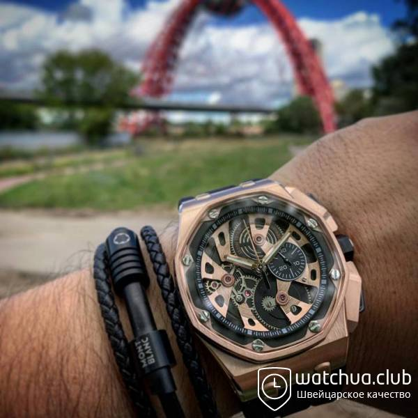 Audemars piguet royal oak offshore gold вид 2