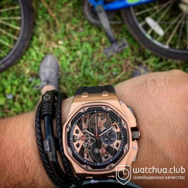 Audemars piguet royal oak offshore gold вид 1