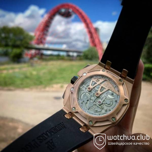 Audemars piguet royal oak offshore gold вид 3