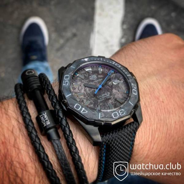 Tag heuer aquaracer black blue вид 2