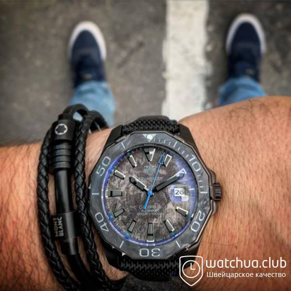 Tag heuer aquaracer black blue вид 1
