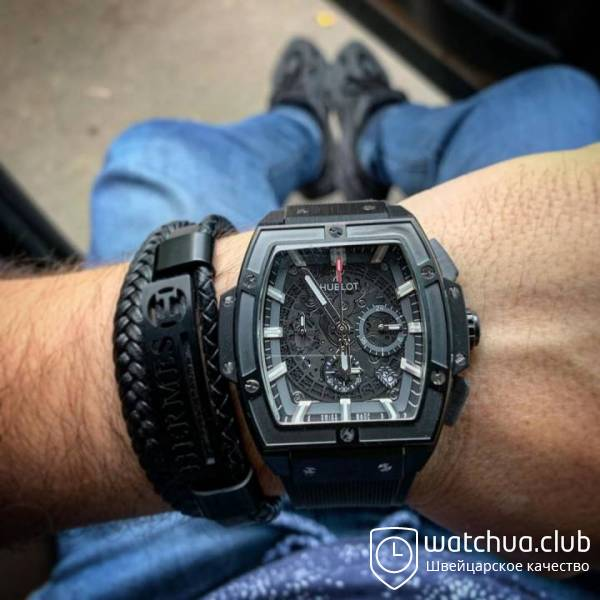 Hublot spirit of Big Bang all black rubber strap вид 1