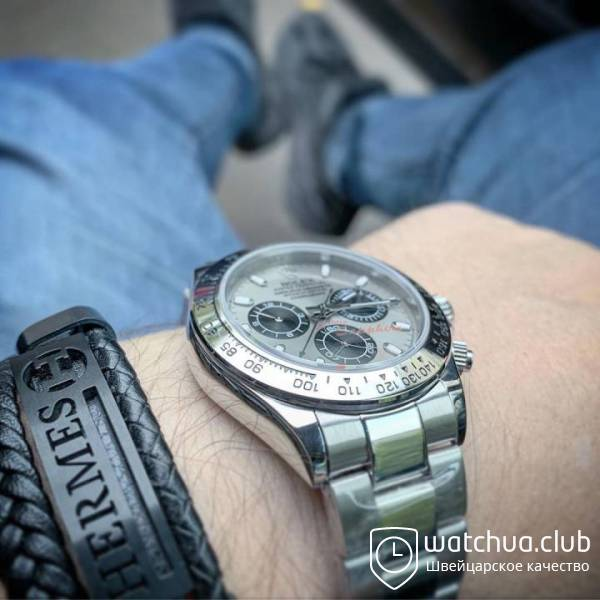 Rolex cosmograph daytona steel bracelet and case grey dial вид 1