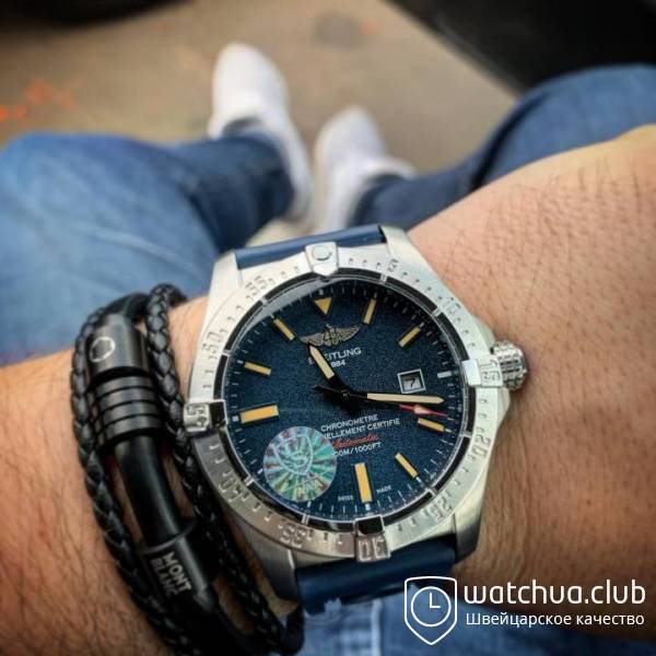 BREITLING CHRONOMETER CERTIFIE avtomatic blue вид 1
