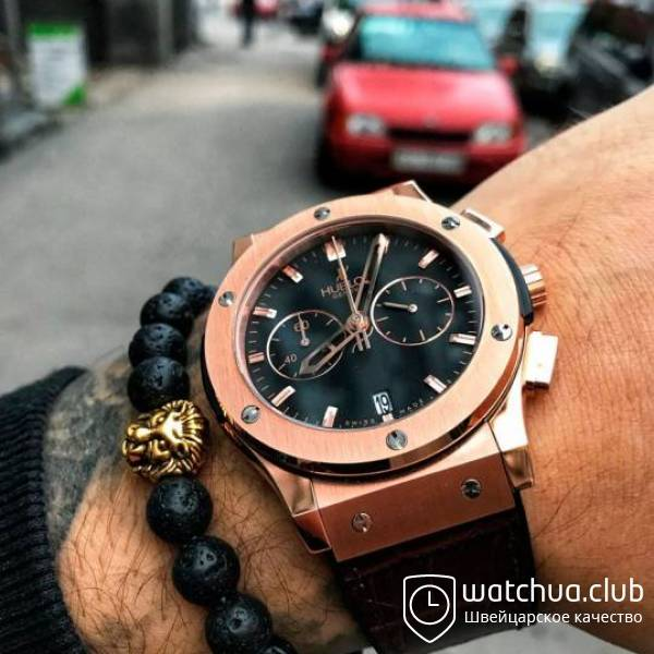 Hublot Classic Fusion Golden Black Chrono Rubber Strap вид 1