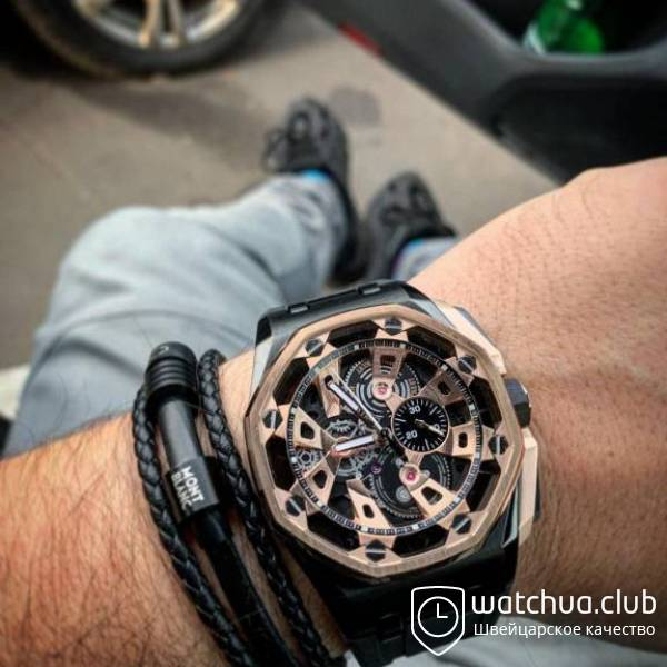 Audemars Piguet Royal Oak Offshore Carbon Chronograph black gold вид 5