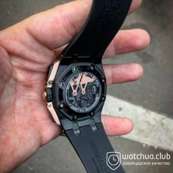 Audemars Piguet Royal Oak Offshore Carbon Chronograph black gold вид 6