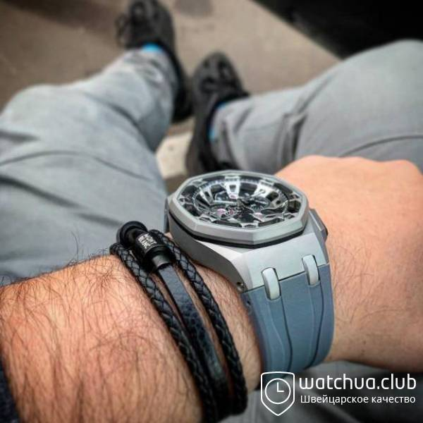 Audemars Piguet Royal Oak Offshore Carbon Chronograph metallic вид 2