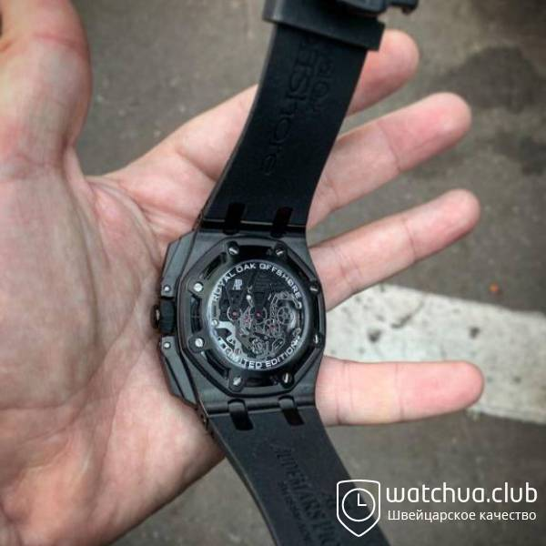 Audemars Piguet Royal Oak Offshore Carbon Chronograph black вид 5
