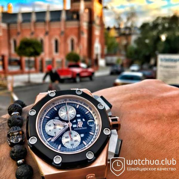 Audemars Piguet Royal Oak Offshore Rubens Barrichello II Chronograph Golden вид 1