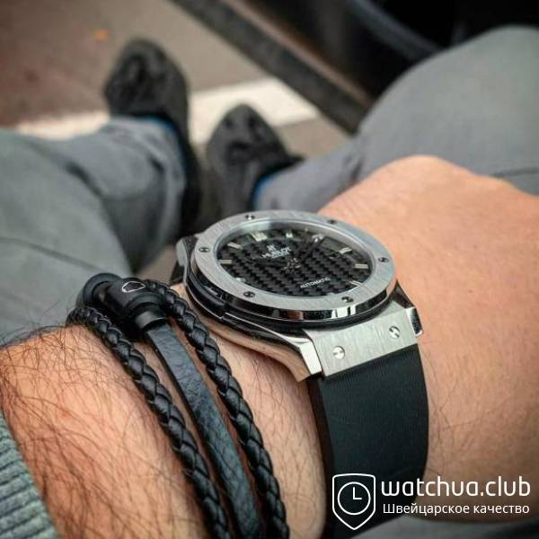 Hublot Classic Fusion steel black carbon вид 4