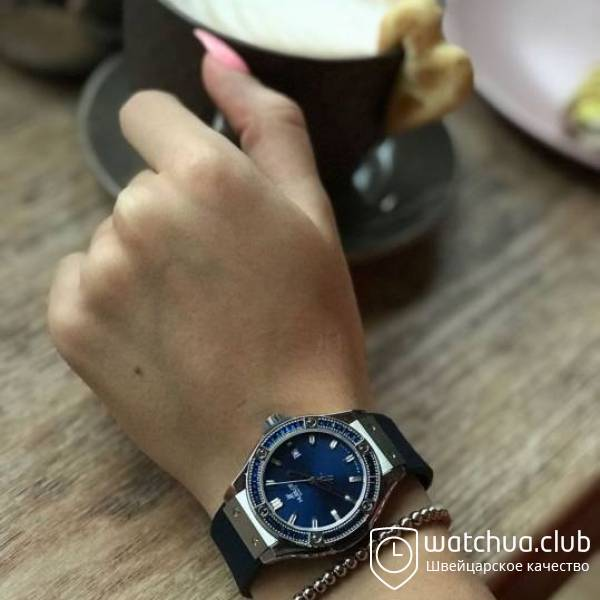 Hublot Lady Steel Blue Big Bang вид 1