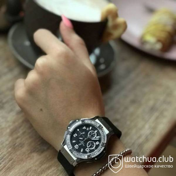 Hublot Tutti Frutti Steel Case Black Dial Diamond Bezel вид 1